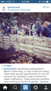 So proud and happy to be featured on Lawrence University's official Instagram! Here are some of our beautiful volunteers flipping one of our compost piles.